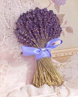 Lavender Bridesmaid Bouquet by Lavender Fanatic.