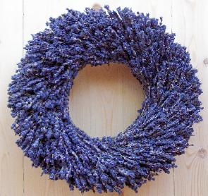 Lavender wreath in our popular 12