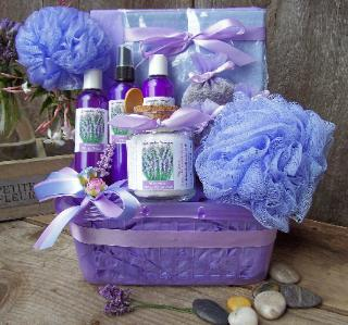 Lavender Gift Set for bath and body.