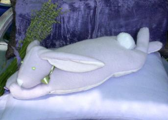 Lavender aromatherapy to enjoy with our lavender bunny.