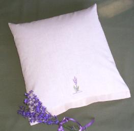 Lavender Buckwheat Pillow in 12 inch travel size.